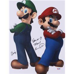 Charles Martinet Signed Mario 11x14 Photo With Inscriptions (PSA COA)