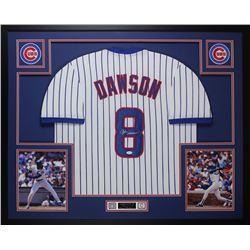 Andre Dawson Signed Cubs 35x43 Custom Framed Jersey Display (JSA COA)