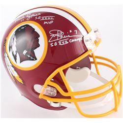 Mark Rypien, Doug Williams  John Riggins Signed Redskins Full-Size Helmet With (3) Inscriptions (JSA