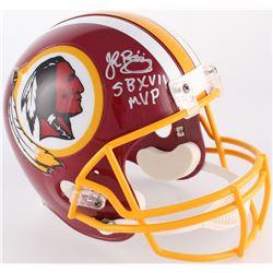 """John Riggins Signed Redskins Full-Size Helmet Inscribed """"SB XVII MVP"""" (JSA COA)"""