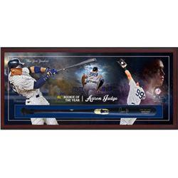 Aaron Judge Signed Yankees 49.5x23.5x3.25 Custom Framed Chandler Game Model Baseball Bat Shadowbox D