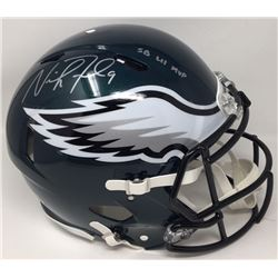 "Nick Foles Signed Eagles Super Bowl LII Authentic On-Field Full-Size Speed Helmet Inscribed ""SB LII"