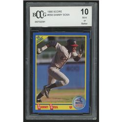 1990 Score #558 Sammy Sosa RC (BCCG 10)