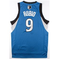 Ricky Rubio Signed Timberwolves Jersey (JSA COA)