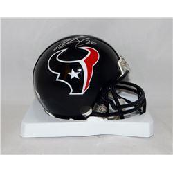 Lamar Miller Signed Texans Mini Helmet (JSA COA)