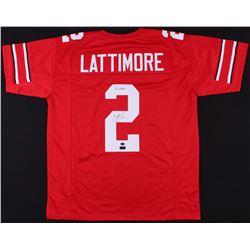 "Marshon Lattimore Signed Ohio State Buckeyes Jersey Inscribed ""GO BUCKS!"" (Radtke COA)"