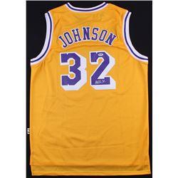 Magic Johnson Signed Lakers Jersey (PSA COA)