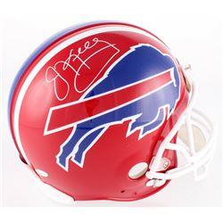 Jim Kelly Signed Bills Full-Size Authentic On-Field Helmet (JSA COA)