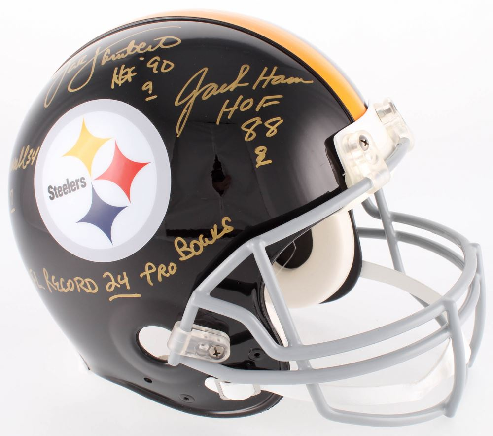 brand new e6828 e1eb1 Jack Ham, Jack Lambert Andy Russell Signed Steelers ...