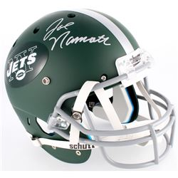 Joe Namath Signed Jets Custom Matte Green Full-Size Helmet (JSA COA)