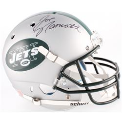 Joe Namath Signed Jets Custom Satin Silver Full-Size Helmet (JSA COA)