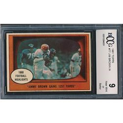 1961 Topps #77 Jim Brown In Action (BCCG 9)