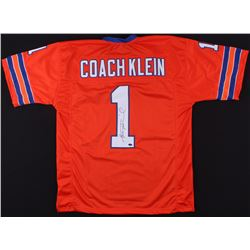 "Henry Winkler Signed ""The Waterboy"" Coach Klein Football Jersey (Schwartz COA)"