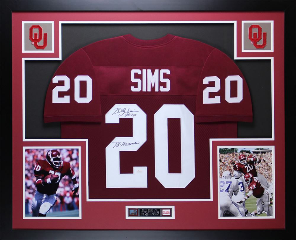 the latest 7a199 d7a82 Billy Sims Signed Oklahoma Sooners 35