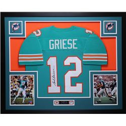 Bob Griese Signed Dolphins 35x43 Custom Framed Jersey (JSA COA)