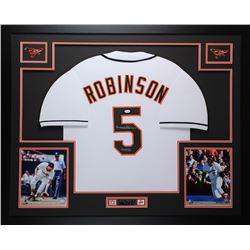 Brooks Robinson Signed Orioles 35x43 Custom Framed Jersey (JSA COA)