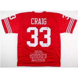 Roger Craig Signed 49ers Career Highlight Stat Jersey (PSA COA  Craig Hologram)
