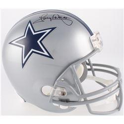 Tony Dorsett Signed Cowboys Full-Size Helmet (JSA COA)