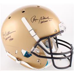 "Roger Staubach  Joe Bellino Signed Navy Midshipmen Full-Size Helmet Inscribed ""Heisman '63""  ""Heisma"