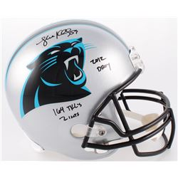 "Luke Kuechly Signed Panthers Full-Size Helmet Inscribed ""2012 DROY"", ""164 TKL's""  ""2 INTS"" (Radtke C"