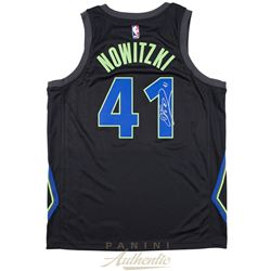 Dirk Nowitzki Signed Mavericks Nike City Edition Jersey (Panini COA)
