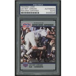 Lee Roy Jordan Signed 1990-91 Pro Set Super Bowl 160 #89 (PSA Encapsulated)