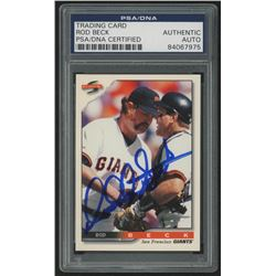 Rod Beck Signed 1996 Score #428 (PSA Encapsulated)