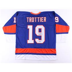 """Bryan Trottier Signed Islanders Jersey Inscribed """"HOF 97"""" (JSA COA)"""