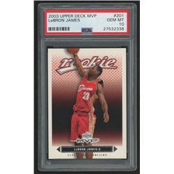 2003-04 Upper Deck MVP #201 LeBron James RC (PSA 10)