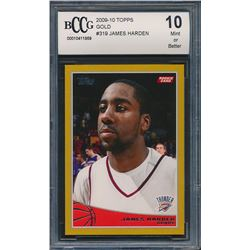 2009-10 Topps Gold #319 James Harden (BCCG 10)