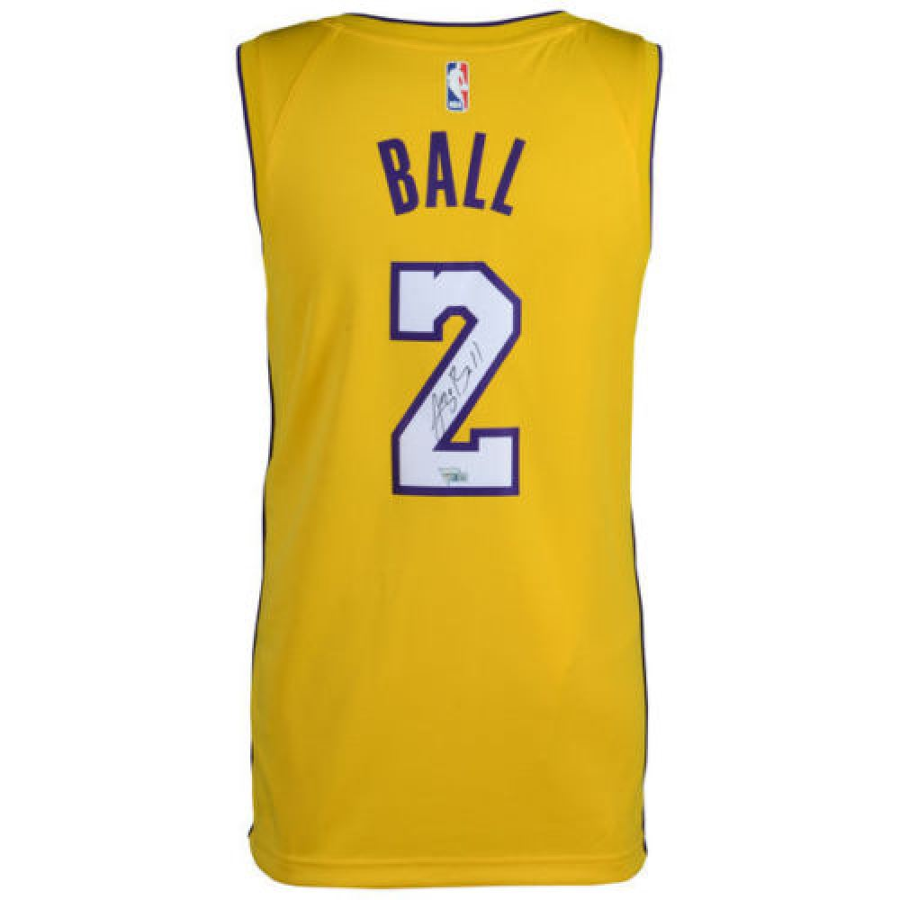 low priced f7cc6 aa298 Lonzo Ball Signed Lakers Jersey (Fanatics Hologram)