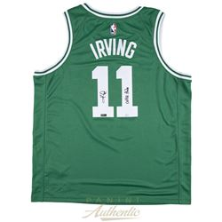 "Kyrie Irving Signed LE Celtics Jersey Inscribed ""Celtic Pride"" (Panini COA)"
