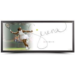 "Serena Williams Signed ""Forehand"" 20x46 Photo Framed Display (UDA COA)"