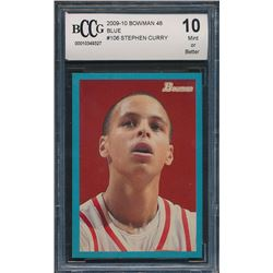 2009-10 Bowman 48 Blue #106 Stephen Curry (BCCG 10)