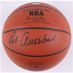 Red Auerbach Signed Official Game Ball NBA Basketball (PSA COA)