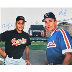 Cal Ripken Jr.  Nolan Ryan Signed 16x20 Photo (FSC COA  Ryan Hologram)
