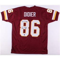 "Clint Didier Signed Redskins Jersey Inscribed ""S.B. Champs XVII XXII"" (Jersey Source COA)"