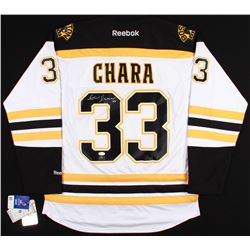 Zdeno Chara Signed Bruins Captains Jersey  (JSA COA  Chara Hologram)