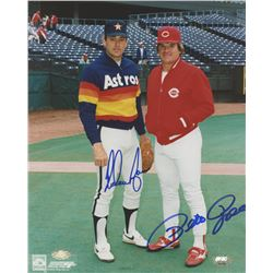 Nolan Ryan  Pete Rose Signed 8x10 Photo (FSC COA)