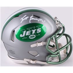 Brett Favre Signed Jets Mini Blaze Speed Helmet (Radtke COA)