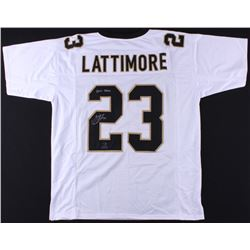 "Marshon Lattimore Signed Saints Jersey Inscribed ""2017 DROY"" (Radtke COA  Lattimore Hologram)"