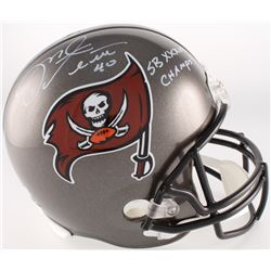 "Mike Alstott Signed Buccaneers Full-Size Helmet Inscribed ""SB XXXVII Champs!"" (Radtke COA)"