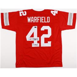 "Paul Warfield Signed Ohio State Buckeyes Jersey Inscribed ""HOF 83""  ""'61 CHAMPS"" (Radtke COA)"