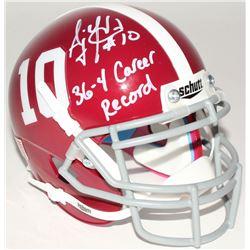 "A.J. McCarron Signed Alabama Crimson Tide Mini-Helmet Inscribed ""36-4 Career Record"" (Radtke COA)"