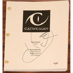 "Halle Berry Signed ""Catwoman"" Full Movie Script (PSA COA)"