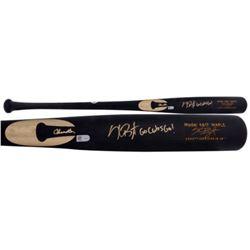 """Kris Bryant Signed Chandler Model KB17 Maple Baseball Bat Inscribed """"Go Cubs Go"""" (Fanatics Hologram"""