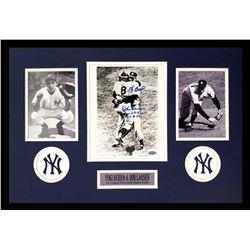 "Yogi Berra  Don Larsen Signed Yankees 16x26 Custom Framed Photo Display Inscribed ""WS PG 10-8-56"" (S"