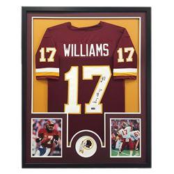 "Doug Williams Signed Redskins 34x42 Custom Framed Jersey Inscribed ""SB XXII MVP"" (Radtke COA)"