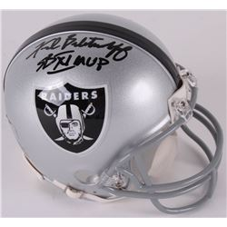 "Fred Biletnikoff Signed Raiders Mini Helmet Inscribed ""SBXI MVP"" (Radtke COA)"