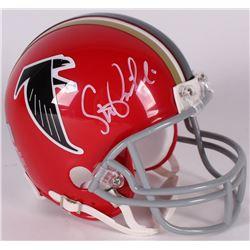 Steve Bartkowski Signed Falcons Throwback Mini Helmet (Radtke COA)